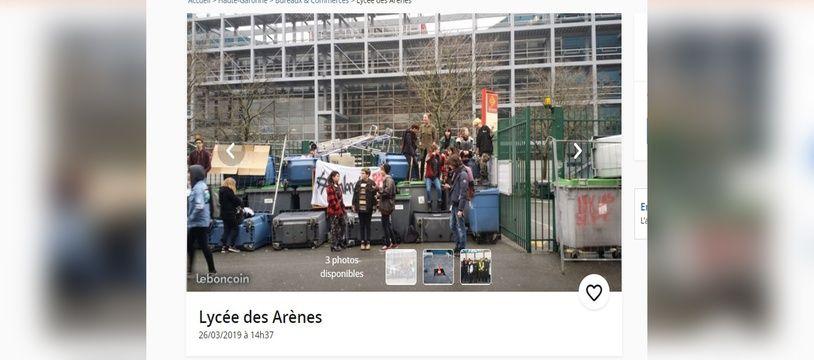 Le lycée des Arènes, la (fausse) petite annonce parue sur Le Bon Coin.