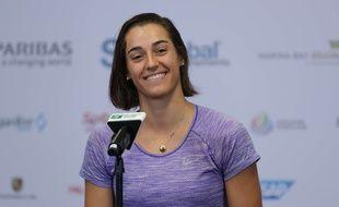 Caroline Garcia a atteint les demi-finales du Masters de fin de saison de Londres, le 28 octobre 2017.