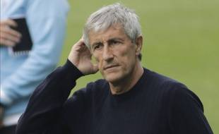 Quique Setien lors du match Celta Vigo-Barça, le 27 juin 2020.