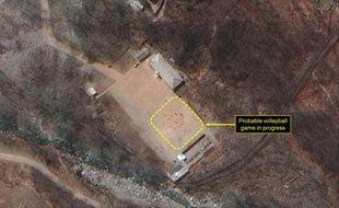 Ce qui ressemble à un match de volley a été capturé sur un site nucléaire nord-coréen par un satellite américain, le 19 avril 2017.