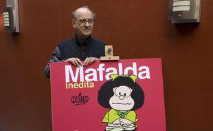 Le dessinateur argentin Quino, créateur de Mafalda, en 2008.