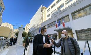 Lundi matin, devant le tribunal administratif de Nice.