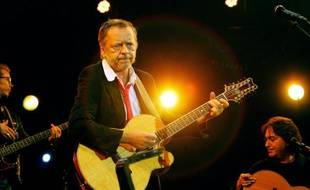 Le chanteur Renaud, le 11 juillet 2007 à La Rochelle