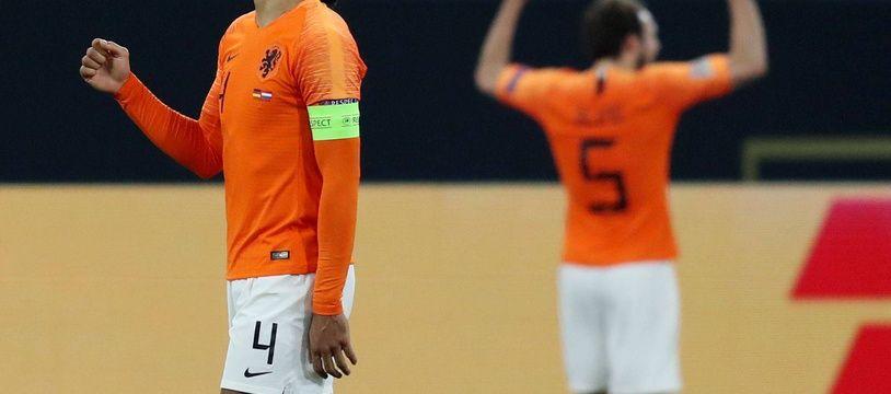 Virgil van Dijk a inscrit le but de la qualification pour les Pays-Bas face à l'Allemagne (2-2) en Ligue des nations, le 19 novembre 2018.