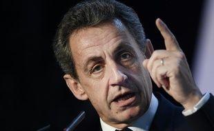 Nicolas Sarkozy, président du parti Les Républicains, le 26 juin 2016 à Chartres-de-Bretagne, près de Rennes