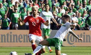 Aaron Ramsey le 25 juin 2016 lors du match pays de Galles-Irlande du Nord.