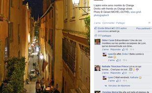 L'image décriée a été postée lundi soir sur la page Facebook de Lyon.