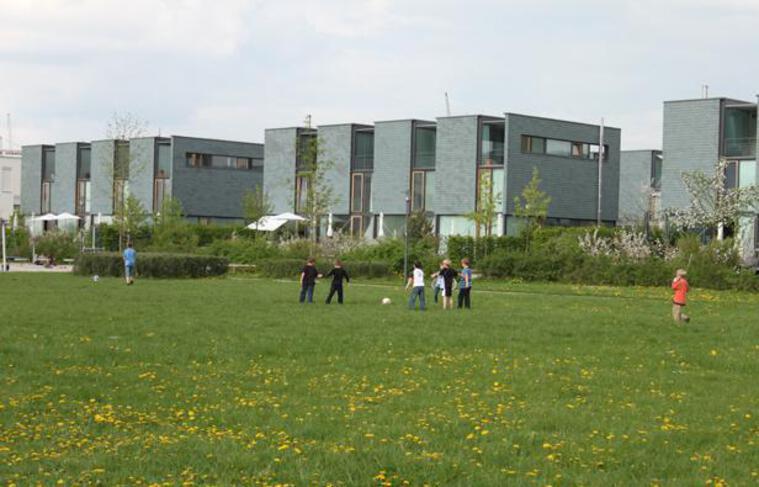 Le nouveau quartier de Messestadt Riem, à Munich, le 6 mai 2013.