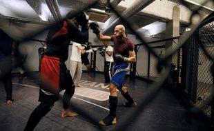 Un entraînement de MMA