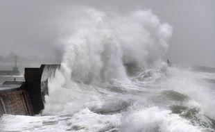 La ville de Plobannalec-Lesconil secouée par la tempête Ciara le 9 février 2020.