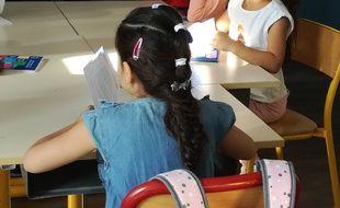 A Lyon, lors de la rentrée scolaire 2018-2019 à l'école Pasteur, dans le VIIIe arrondissement.
