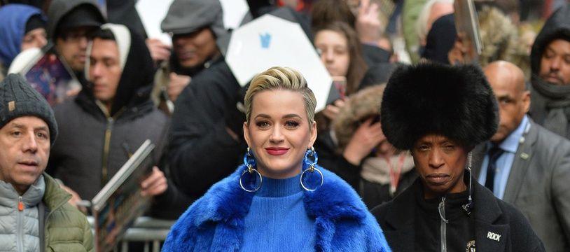 La chanteuse Katy Perry dans les rues de New York
