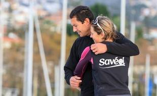 Samantha Davies et Romain Attanasio