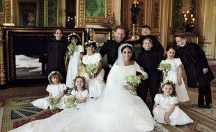 L'une des trois photos officielles diffusée après le mariage princier par le Palais de Kensington le 21 mai 2018.