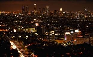 Illustration de Los Angeles de nuit.