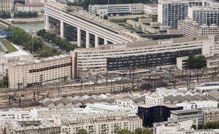Vue aérienne du ministère de l'Economie et des Finances, à Bercy.