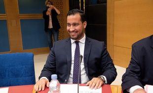 Alexandre Benalla, ancien collaborateur d'Emmanuel Macron à l'Elysée, en audition de la comission d'enquête sénatoriale, le 19 septembre 2018 à Paris
