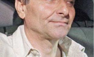 Cesare Battisti, 56ans, quitte la prison de Brasilia, hier.