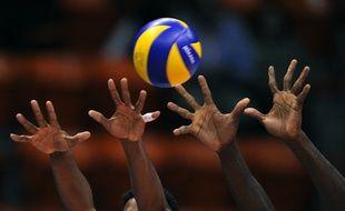 Un match de volley. Illustration.