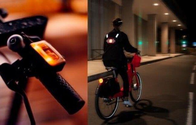 Clic-Light V2: l'association d'une télécommande et d'un panneau de LEDs à fixer sur un harnais.