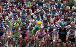 Le peloton du Tour de France le 20 juillet 2012.