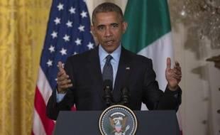 Le président américain Barack Obama à la Maison Blanche à Washington le 17 avril 2015