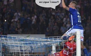 Strasbourg-Lyon: Dimitri Liénard a marqué le but du maintien pour le RAcing dans les dernières secondes du match.