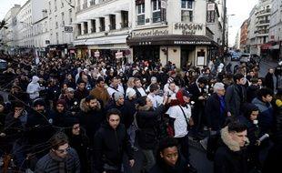 Marche blanche organisée pour la mort de Cédric Chouviat.