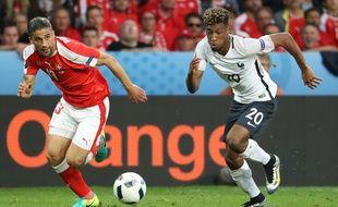 Kingsley Coman, l'attaquant de l'équipe de France, le 19 juin 2016, contre la Suisse.