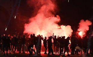 Contexte tendu autour du match entre l'OM et la Lazio Rome, en Ligue Europa, le 25 octobre 2018.