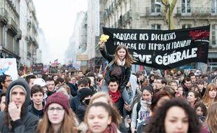 Manifestation contre la loi travail le 31 mars à Nantes /SALOM-GOMIS_1820.0141/Credit:Salom-Gomis/SIPA/1603311916