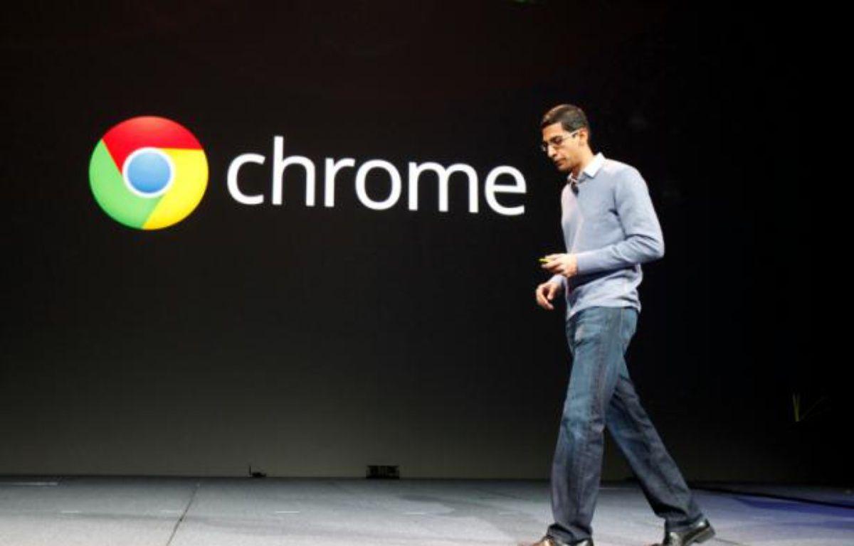 Le vice-président de Google en charge de Chrome, Sundar Pinchai, le 28 juin 2012 lors de la conférence Google i/o. – S.LAM/REUTERS