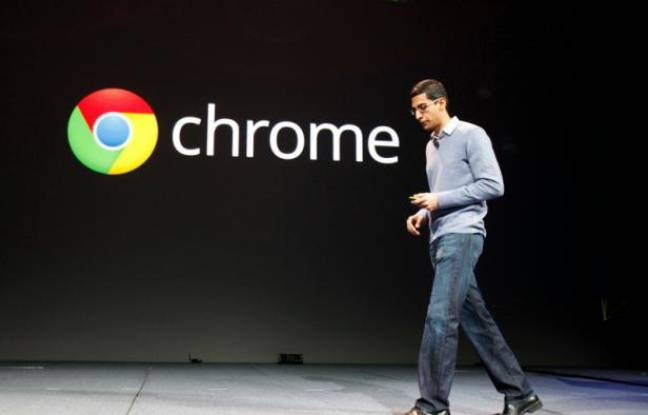 Le vice-président de Google en charge de Chrome, Sundar Pinchai, le 28 juin 2012 lors de la conférence Google i/o.