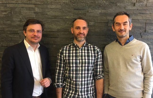Les trois créateurs de MobiliWork, une start up lyonnais qui facilite le prêt de compétences entre entreprises.