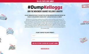 Plus de 180.000 lecteurs de Breitbart News ont signé la pétition appelant à boycotter la marque Kellogg's.