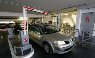 Le parking souterrain Cathédrale, en centre-ville de Nantes
