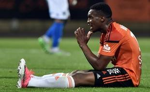 Rien n'a souri à Benjamin Moukandjo contre Troyes, le 28 mai 2017.