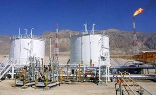 Installation pétrolière en Iran.