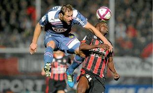 Krychowiak lors de sa seule titularisation en Ligue 1 avec les Girondins le 15 octobre 2011 à Nice.