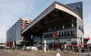 Vue du centre commercial d'Euralille, dessiné par l'architecte Jean Nouvel, le 30 octobre 2014