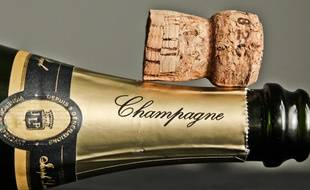 Une bouteille de champagne (Illustration).