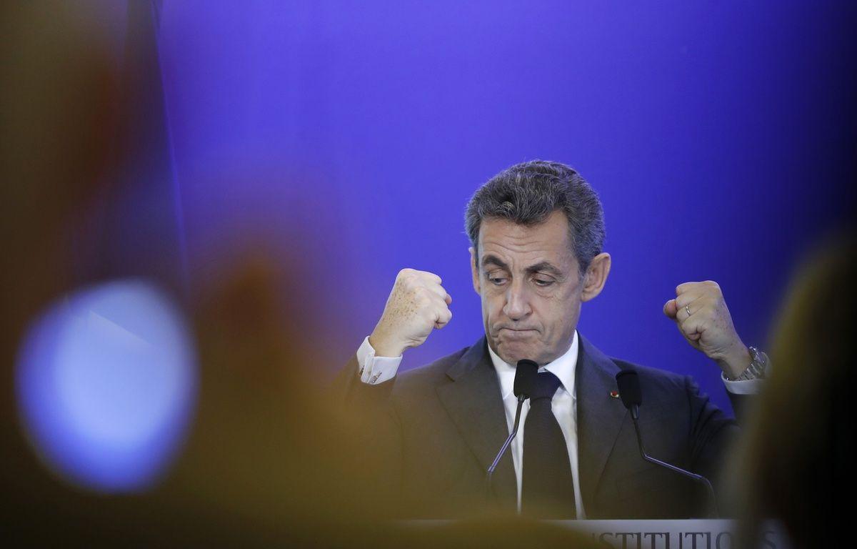 Nicolas Sarkozy a rendu visite à 1.000 Français installés à Londres  – FRANCOIS GUILLOT / AFP
