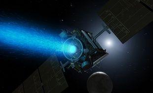 Vue d'artiste: la sonde Dawn se dirige vers Cérès.