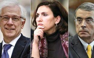 Philippe Meirieu (Europe Ecologie), Nora Berra (UMP) et Jean-Jack Queyranne (PS ) candidats aux régionales en Rhône-Alpes.