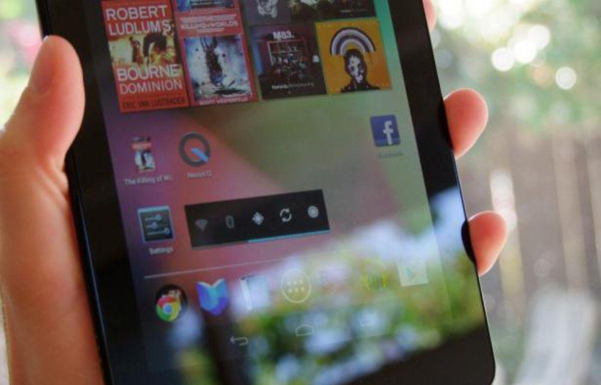 L'écran de démarrage du Nexus 7 comprend de nombreux widgets mettant en avant les contenus multimédias. – P.BERRY/20MINUTES