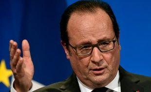 Le président français François Hollande à Tulle, en Corrèze, le 16 janvier 2016