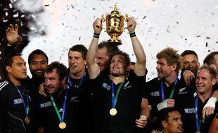 Les All Blacks ont gagné la septième Coupe du monde, chez eux, en Nouvelle Zélande, le 23 octobre 2011.