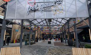 La Shopping promenade dans la zone commerciale nord de Strasbourg le 16 mars 2021.