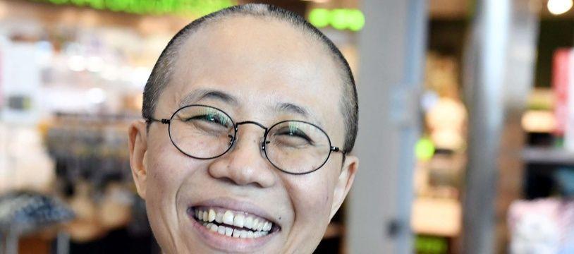 La joie de Liu Xia le 10 juillet lors de son escale à Helsinki.