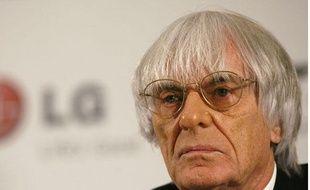 Le Napoléon de la Formule 1, Bernie Ecclestone, à Londres en novembre 2008.